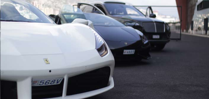 F488 Ferrari + Huracan Spider + Bentley Bentayga Monaco Platinium Location